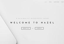 Hazel - Clean Minimalist Multi-Purpose WordPress Theme