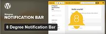 8 Degree Notification Bar