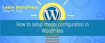How to setup media configuration in WordPress