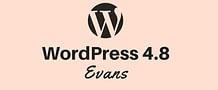WordPress 4.8 Evans Released