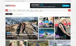 Editorial - Free Magazine WordPress Theme