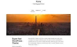 Kuna - Free WordPress Blogging Theme