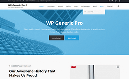 WP Generic Pro-Premium Generic WordPress Theme