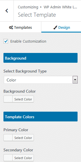 Select Template Design