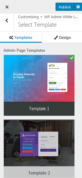 select templates - How to Add a Custom Login Page on WordPress Website? (Step by Step Guide)