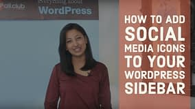 How to add social media icons to your Wordpress Sidebar