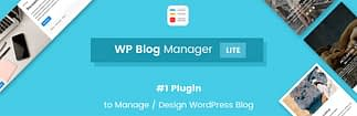 WP Blog Manager Lite - Free WordPress Blog Manager Plugin