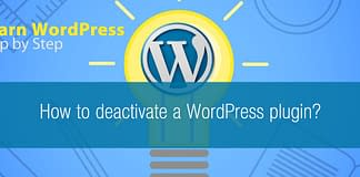 How to deactivate a WordPress plugin