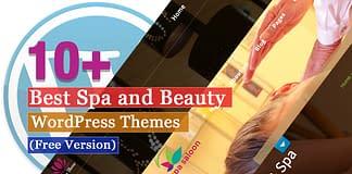 Best Free Spa and Beauty WordPress Themes