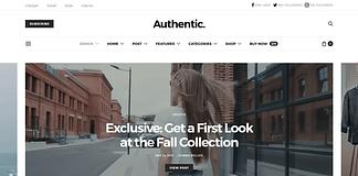 Authentic - Lifestyle Blog & Magazine WordPress Theme