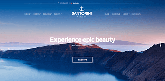 Santorini Resort - Responsive WordPress Hotel Theme