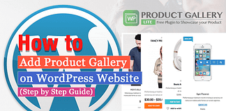 How to Add Product Gallery on WordPress Website? (Step by Step Guide)