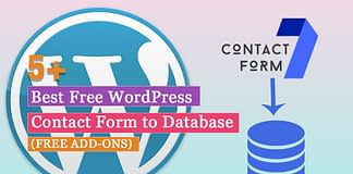 Best Free Contact Form to Database Add-ons