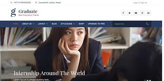 Graduate - Free WordPress Education Theme