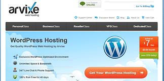 Arvixe - Cheapest Hosting for WordPress