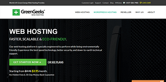 GreenGeeks - Fastest WordPress Hosting