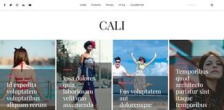Cali - Free WordPress Blog Theme