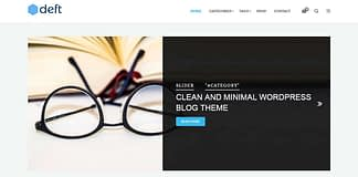 Deft - Free WordPress Theme for Blog and Magazine