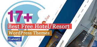 Best Free Hotel Resort WordPress Themes Latest