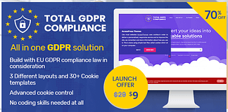 70% Off on Total GDPR Compliance – All in One GDPR WP Plugin