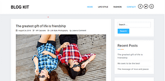 Blog Kit - Free Minimal Blog WordPress Theme