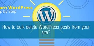 Bulk delete WordPress posts from your site
