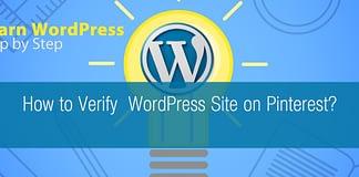 How to Verify WordPress Site on Pinterest