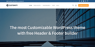 Customify - Free WordPress Multipurpose Theme