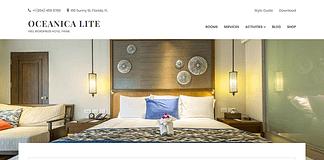 Oceanica Lite - Free Hotel WordPress Theme