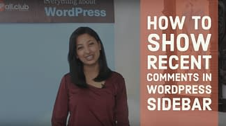 How to show recent comments in WordPress Sidebar