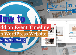 How to add an event timeline on WordPress website? (Step by Step Guide)