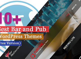 Best Free Bar and Pub WordPress Themes