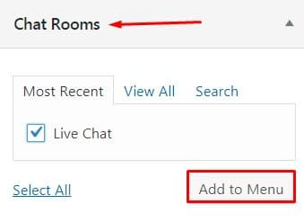 Add a Free live Chat in WordPress.