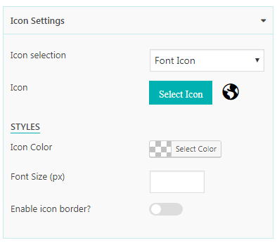 Everest Counter Lite: Icon Settings