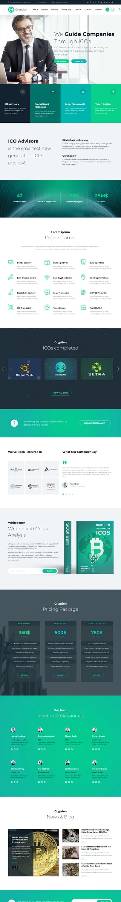Cryption - Best Premium Cryptocurrency WordPress Theme