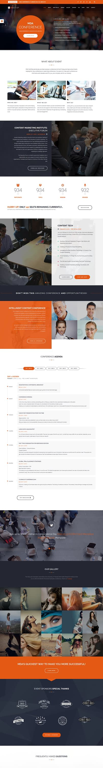meetup best premium event wordpress theme - 10+ Best Premium Event WordPress Themes and Templates