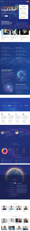 cryptro best premium cryptocurrency wordpress theme - 10+ Best Premium Cryptocurrency WordPress Themes