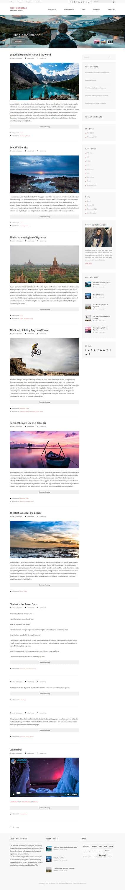 The Minimal - Best Free Minimal WordPress Theme