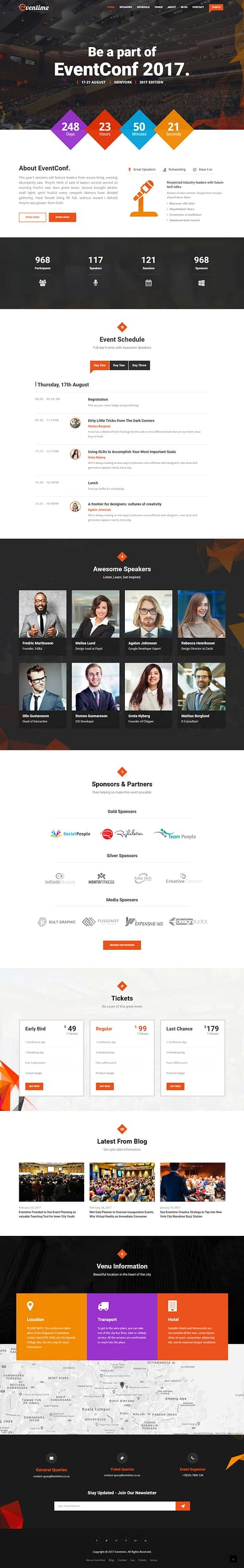 eventime best premium event wordpress theme - 10+ Best Premium Event WordPress Themes and Templates