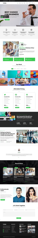 excitor best premium consultant wordpress theme - 10+ Best Premium Consulting WordPress Themes