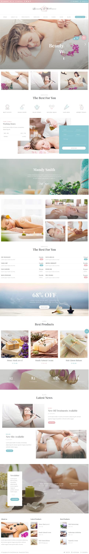 beauty pack best premium spa beauty wordpress theme - 10+ Best Premium Spa and Beauty WordPress Themes