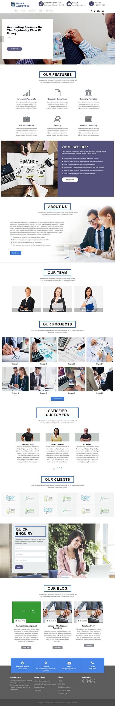 finance accounting best free accounting wordpress themes - 10+ Best Free Accounting WordPress Themes