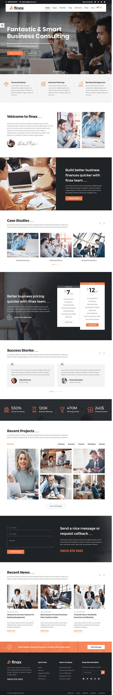 Finax - Best Premium Drag and Drop WordPress Theme