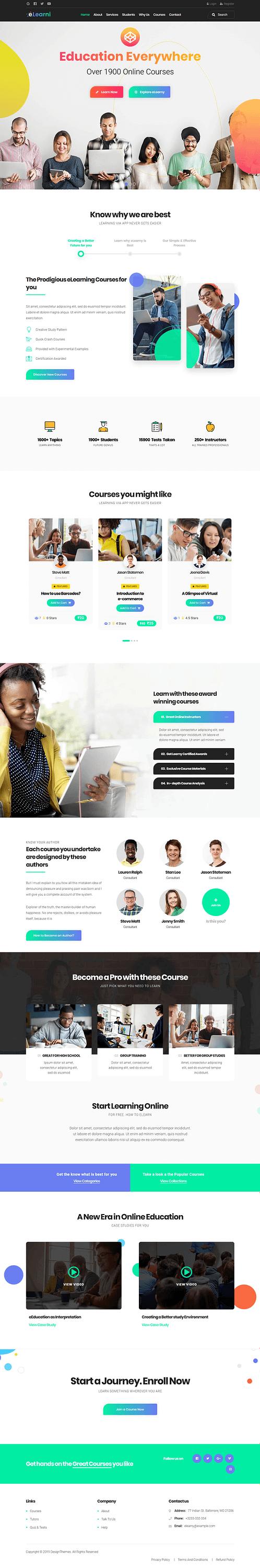 Elearni - Best Premium LMS WordPress Theme