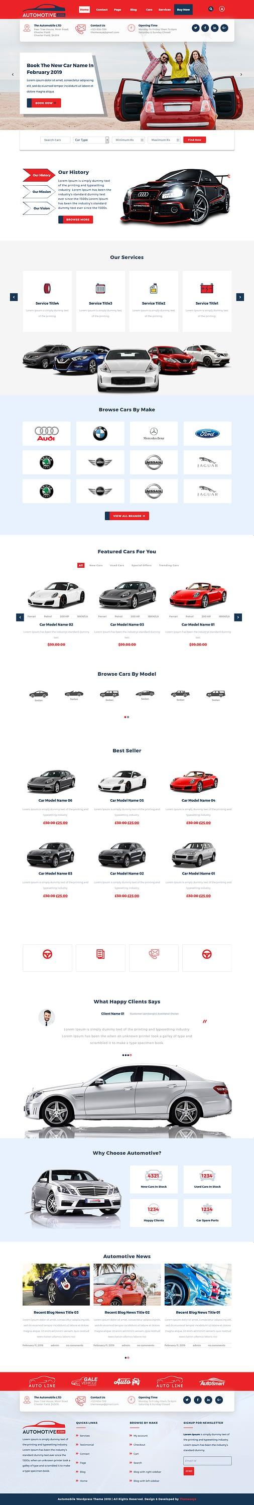 Sayara Automotive - Best Free Automobile WordPress Theme