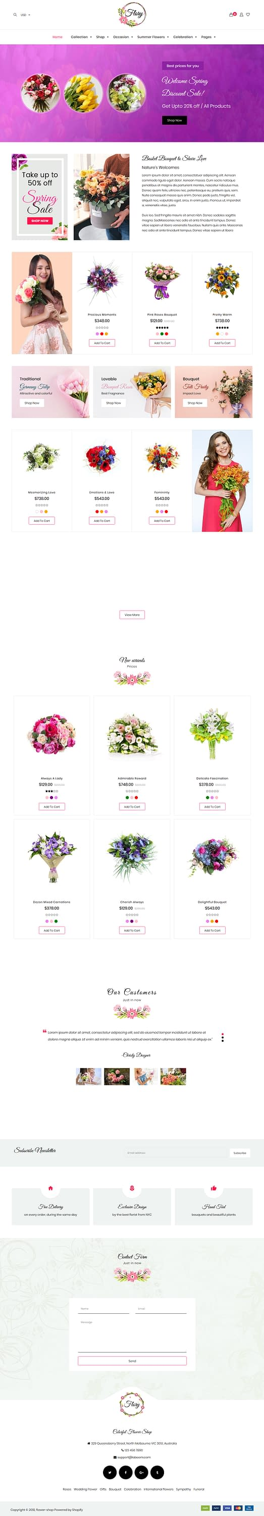 Flory – Best Premium Florist and Floriculture WordPress Theme
