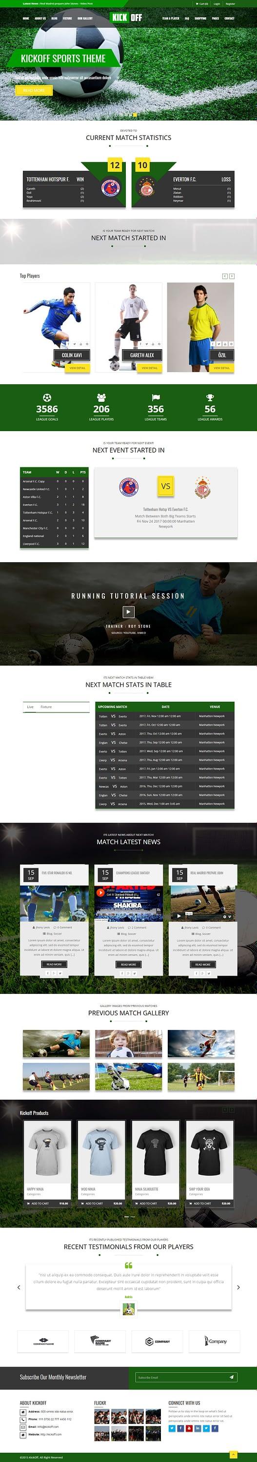 kickoff best premium sports wordpress theme - 10+ Best Premium Sports WordPress Themes