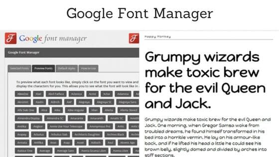Google Font Manager - How to Choose Typography for your WordPress Website