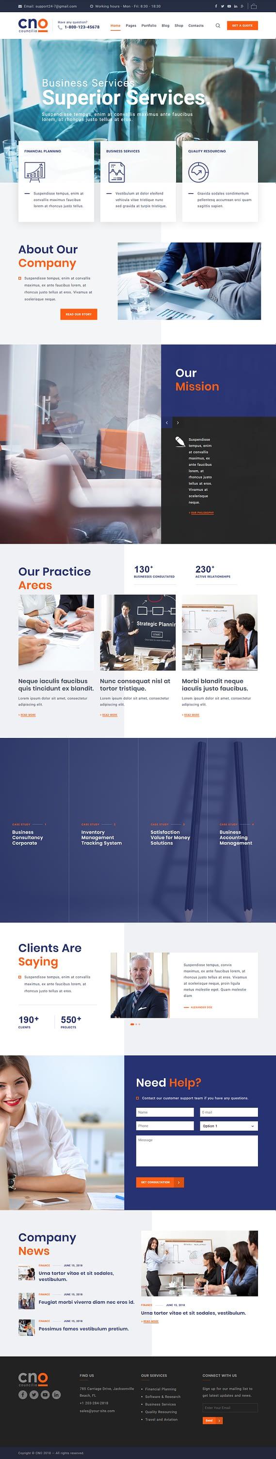 councilio best premium consultant wordpress theme - 10+ Best Premium Consulting WordPress Themes