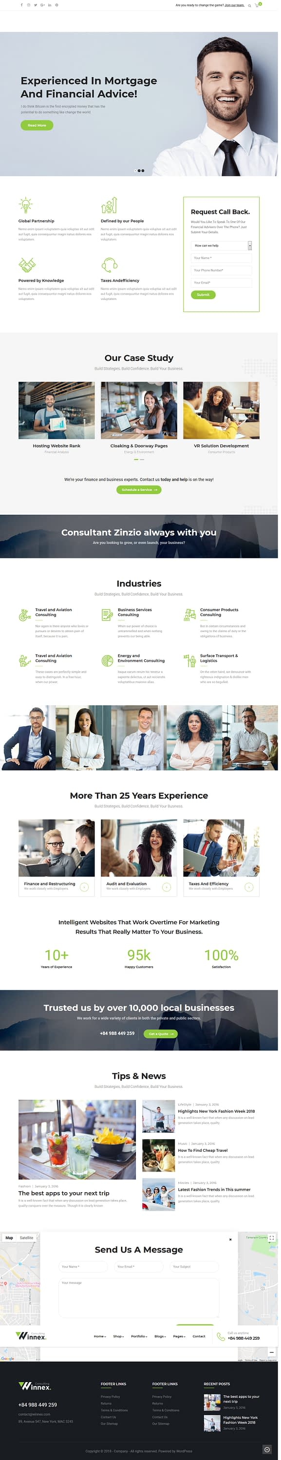 winnex best premium consultant wordpress theme - 10+ Best Premium Consulting WordPress Themes